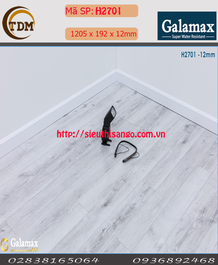 SÀN GỖ GALAMAX H2701 - 12MM