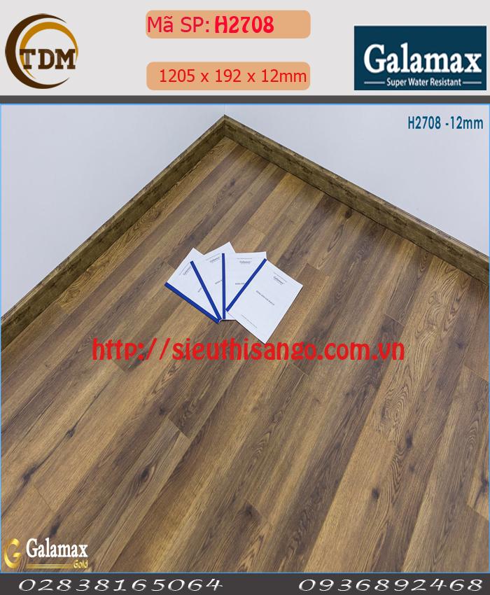 SÀN GỖ GALAMAX H2708 - 12MM