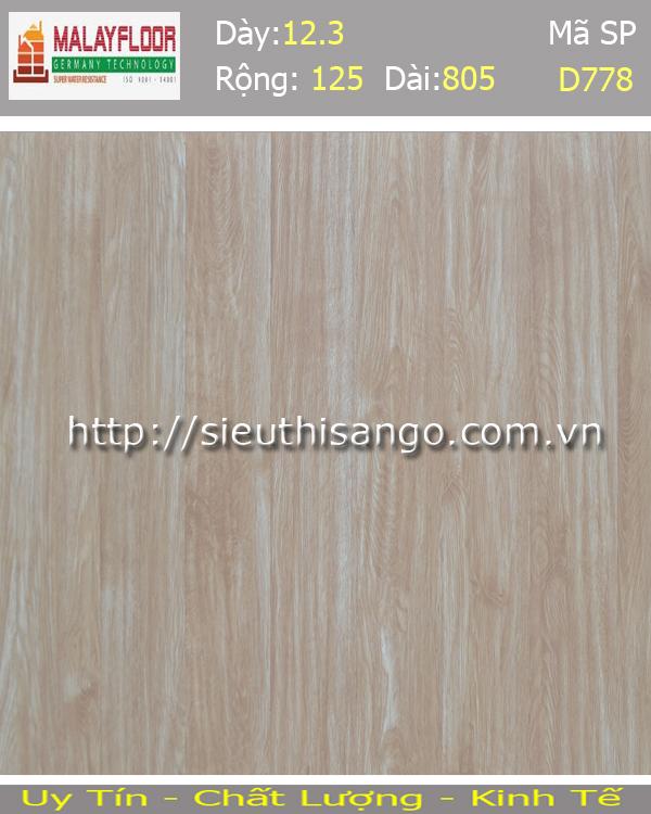 Sàn gỗ Malayfloor 12mm D778