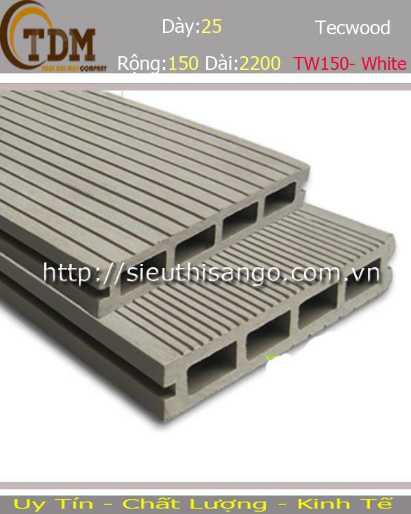 SÀN GỖ TECWOOD TW150- WHITE